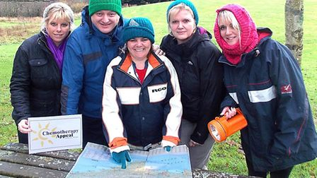 Heading up the Chemotherapy Appeal team are Sharon Loosemoore, Ian Roome, Julie Whitton, Linda Lewis