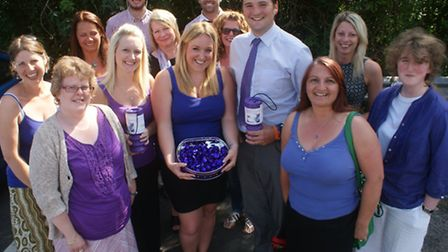 The North Devon Gazette team put on their purple to support the chemotherapy Appeal.