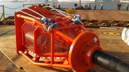 A J and S Marine Renewables Subsea Drymate Connector about to be installed.