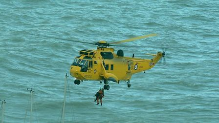 The rescue off Ilfracombe on Tuesday. Pic by Chris Wilson.