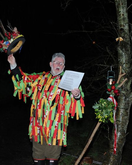 The wassailing at Ostlers Cider Mill. Pic: Barbara Fryer.