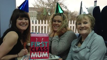 Pamela Beecham during her most recent birthday trip to London with daughters Rosie and Lucy.