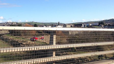 The incident in Barnstaple on Sunday.