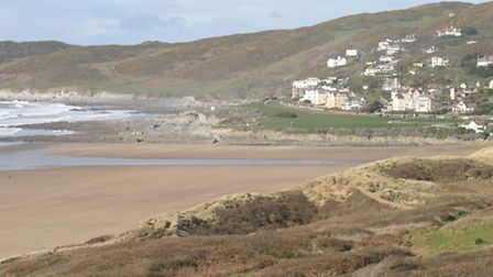 The incident occurred in the dunes below Marine Drive at Woolacombe. Picture for illustration purpos