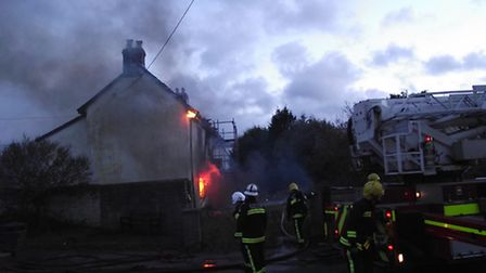 The fire in Bickington today (Sat)