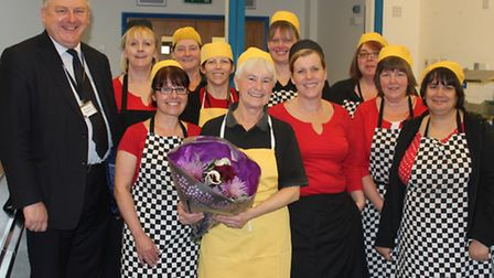 Barnstaple school dinner lady Veronica Ford has said a fond farewell after 42 years at the Park Comm