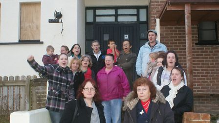 Residents of the Forches Estate were out in force to make their point