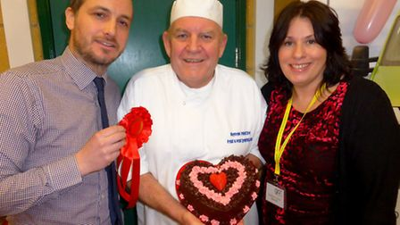 Bake Off judges Andy Keeble editor of the North Devon Gazette, Graham Principe, owner of East and We