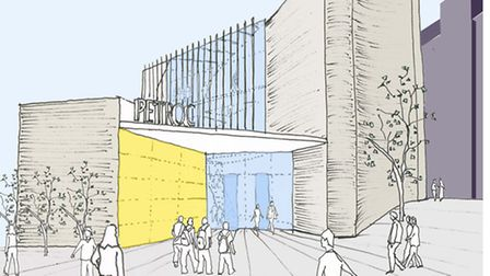 An impression of how the new Petroc building will look.