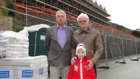 Northam mayor Barry Mason and Torridge District Councillor Roger Tisdale (pictured with son Robbie)