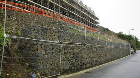 Atlantic Way is Westward Ho! has been closed amid fears this wall could collapse. Pic: Graham Hobbs.