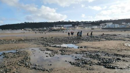 Beach-goers have been stunned to find much of the sand has been washed away at Westward Ho! during t