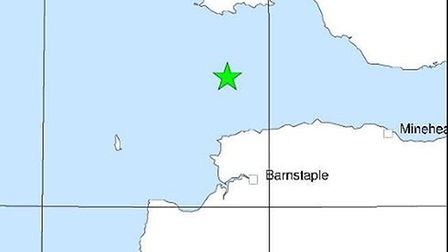 This map by the British Geological Survey shows the point of the earthquake.