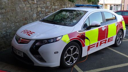 Bideford fire station has been testing out a number of electrical vehicles.