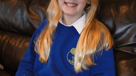 Anna Gray, aged 10, will be cutting off her hair for charity this month.