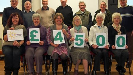 Exmoor Ramblers donate 4,500 to the Chemotherapy Appeal.