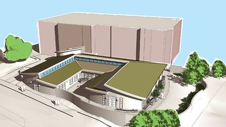 An architect's impression of how the new chemotherapy unit will look.