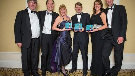 The BIG Sheep and Westward Living celebrating their South West Tourism Awards win.
