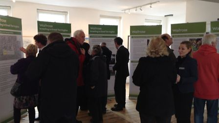 The consultation at the Plough Arts Centre in Torrington today.