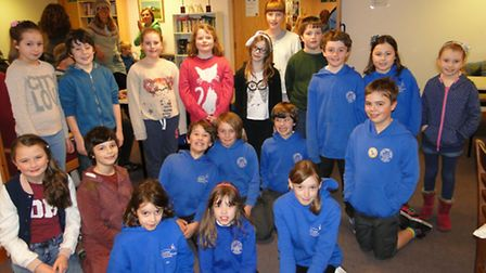 Plenty of youngsters from Ilfracombe Junior School gathered at the library on Thursday to take part
