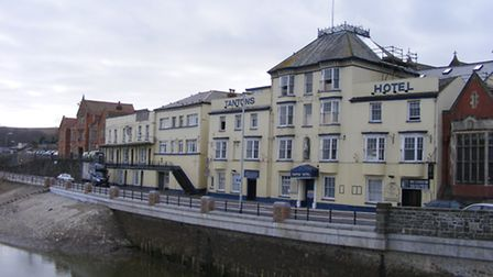 Tantons Hotel in Bideford is going under the hammer.