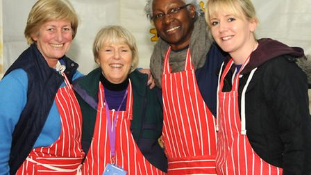 Volunteers help out with the Star Trek catering. Picture: Mike Thomas.