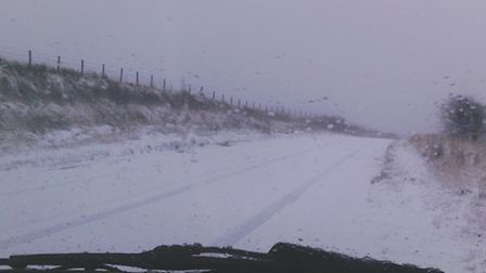 The snow on Brendon Common this morning, taken by Astra Fletcher.