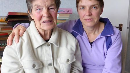 Lifeline: Jonquil Holton and mum Mary May-Miller, who uses the Springfield Day Centre in Bideford tw