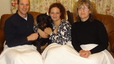 Mia, with Andy, Hannah and Lorraine Talmage.