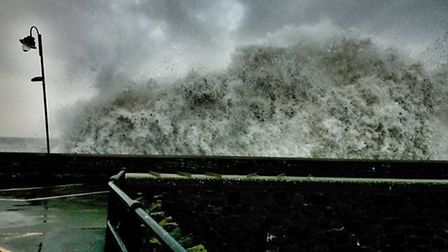 Waves batter Ilfracombe Pier once again this afternoon (Wednesday) as the next storm moves. Picture: