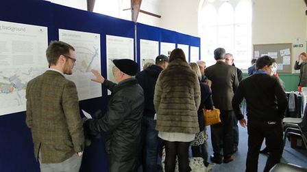 A steady stream of people visited the Devonshire Homes consultation at Landkey on Monday afternoon.