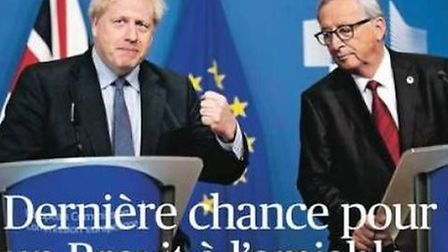 The front page of La Figaro. Photograph: Twitter.
