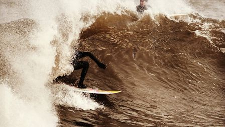 Last great wave of a great surfboard. Picture: Zac Gibson