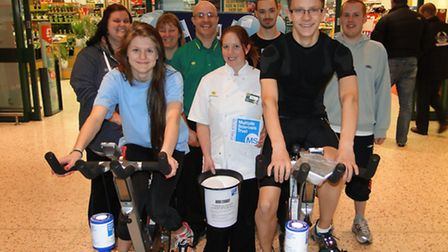 Bideford Morrisons staff were joined by sixth form students from Bideford College for their fundrais