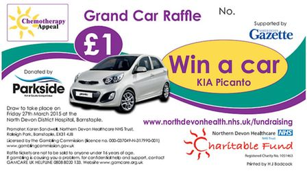 Buy a raffle ticket for 1 and help Chemo Apperal reach 2.2m target - you could win a new car!