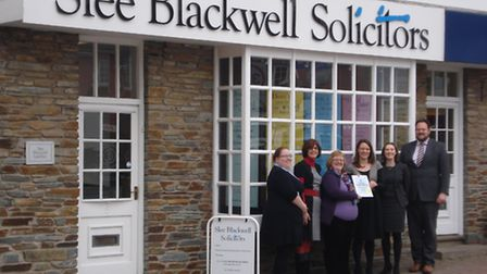Where there's a will (from left): Slee Blackwell's Gemma Williams, Theresa Bartlett, Emily Hockin, K