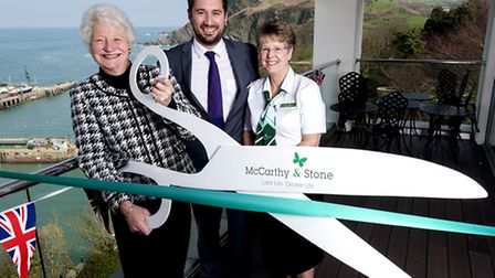 Dame Mary Peters officially opens McCarthy and Stone's Lantern Court development in Ilfracombe, join