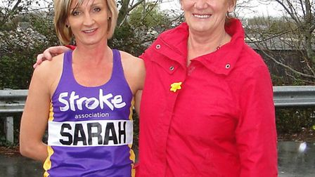 London Marathon runner Sarah Francis, pictured with mum Jennifer Parr, will be raising money for the