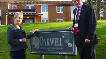 Councillors Jane Whittaker and Frank Biederman are pictured outside the Oakwell day centre in Bickin