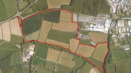 The site of the proposals for up to 550 new homes in the Clovelly Road Park development.