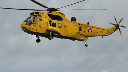 The RAF's Chivenor-based Sea King Search and Rescue helicopter