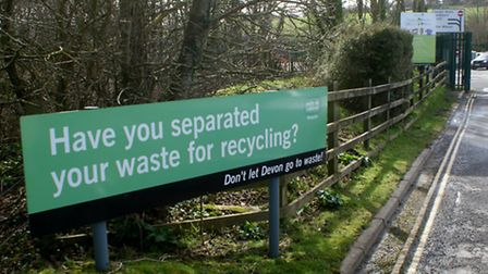 Opening hours at Devon County Council-run recycling centres, including ar Barnstaple's Seven Brethre