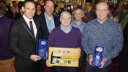 Steve Fisher, Alan Pearce and Stephen Hillman 20yrs with group command Neil Blackburn and Bruce Less