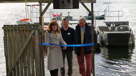Devon County Councillor Andrea Davis conducts the official opening of the new Calvert Trust Exmoor w