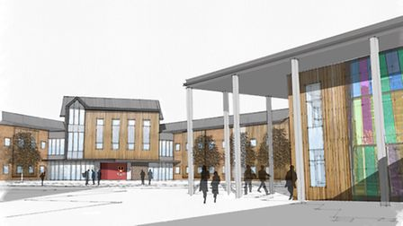 A graphic design of the proposed new sixth boarding house and study centre at West Buckland School.