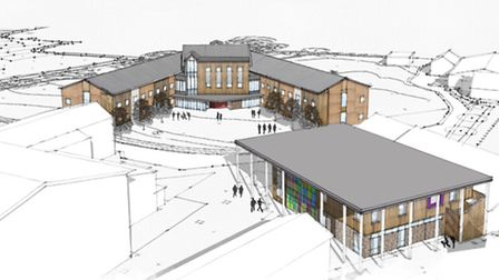 A graphic design overview of the proposed new sixth boarding house and study centre at West Buckland