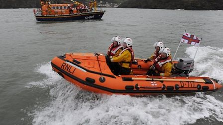 Both Ilfracombe lifeboats were called out on Saturday, halfway through a charity car wash.