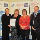 (Left to right) Helen France, head of business development for the National Apprenticeship Scheme; T