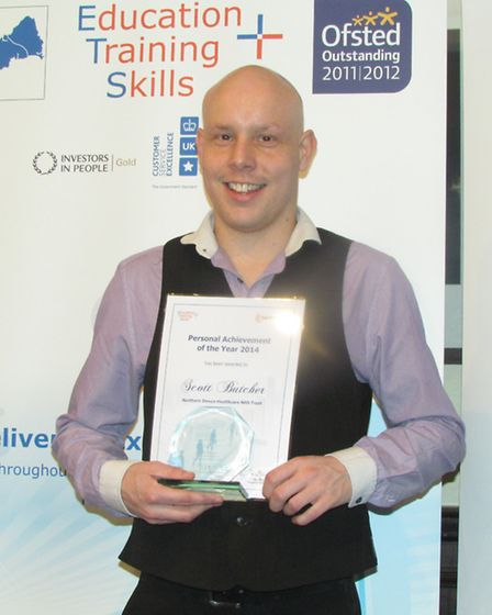 Scott Butcher won the personal achievement of the year award