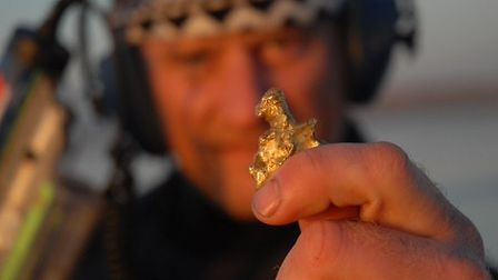 The gold nugget is thought to be the second largest found on UK shores.